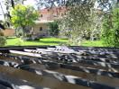 La casa rural vista desde el jardin