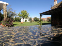 Jardin Casa rural El Caseron Aldeacentenera Cáceres